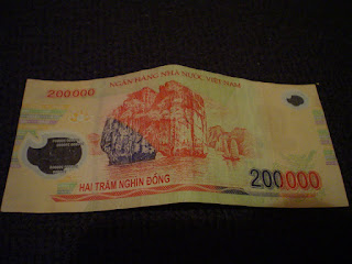 Ticket 200000 vietnamita Dongs