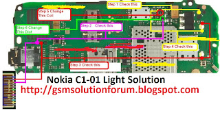 nokia c1 01 Light problem solution