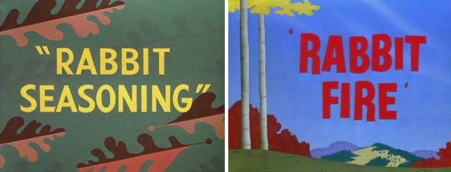 Rabbit Seasoning and Rabbit Fire - animated shorts