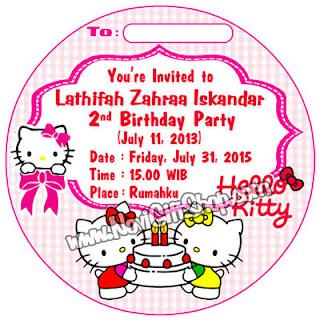 Invitation Hello Kitty rev Kartu Undangan Ulang Tahun Anak (Invitation Card)