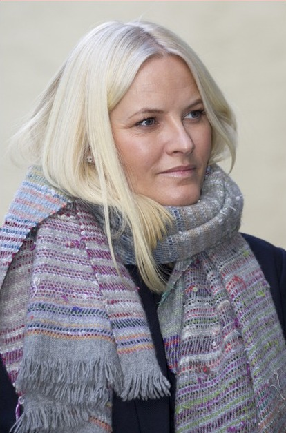HRH Crown Princess Mette-Marit of Norway visits Batteriet (The Battery), a center run by the Church City Mission