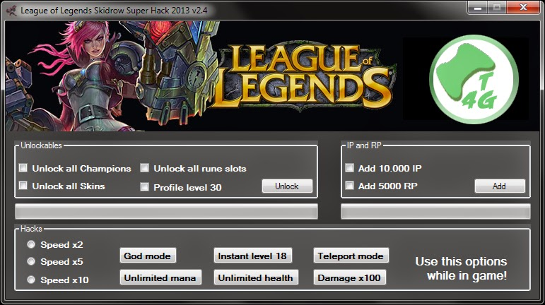 League Of Legend Skidrow Super Hack 2013 V24 ToolsForGame