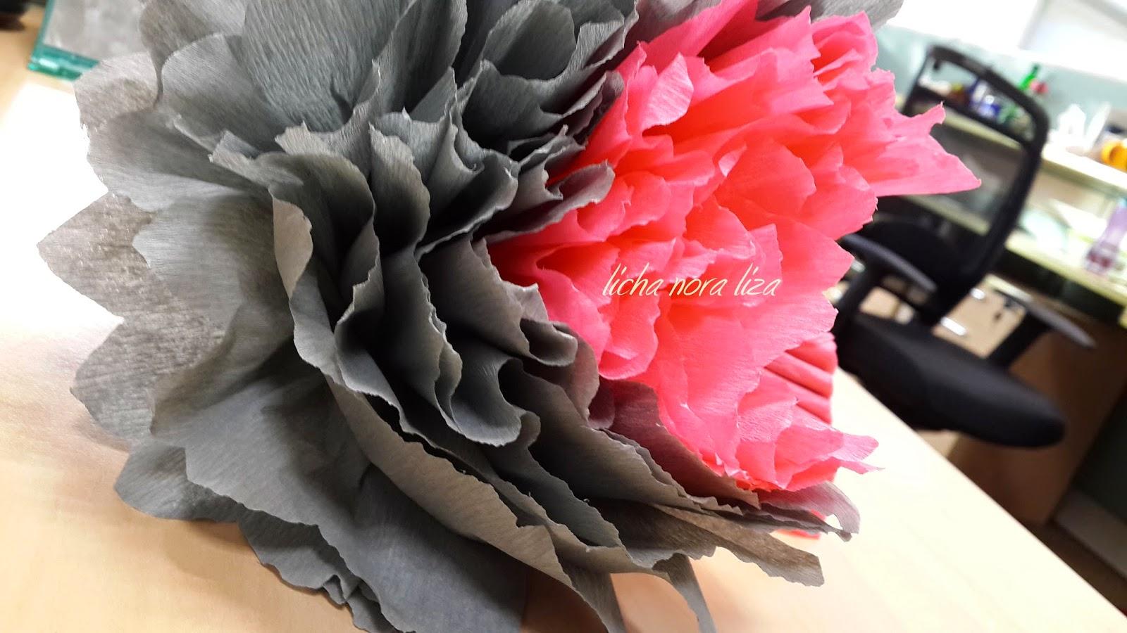 DIY Bunga Kertas Besar Untuk Pelamin