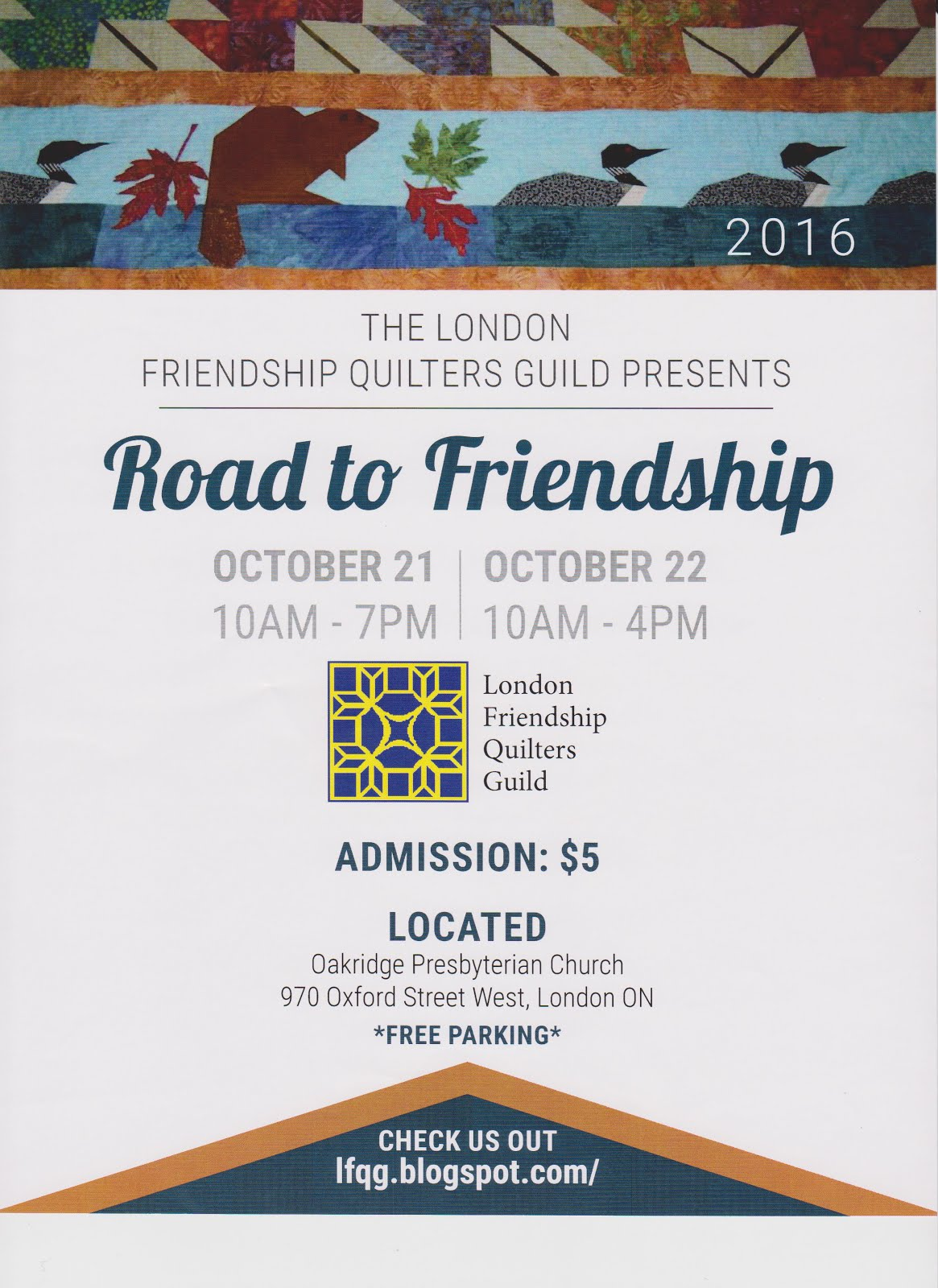 2016 Road To Friendship Quilt Show