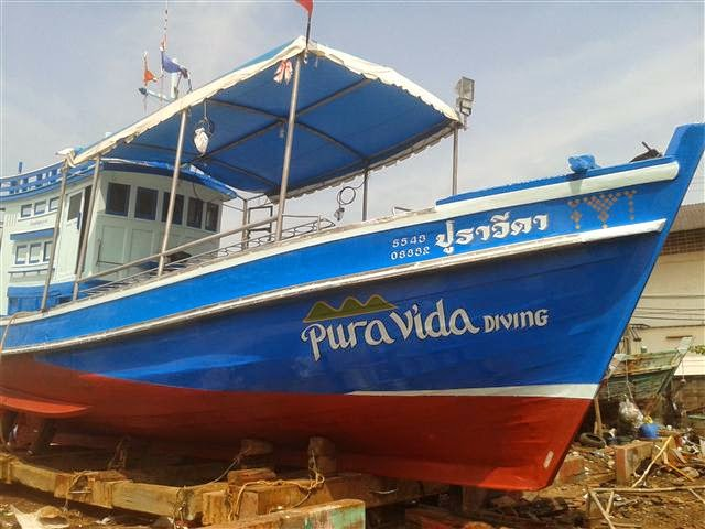 Pura Vida Koh Tao Diving boat