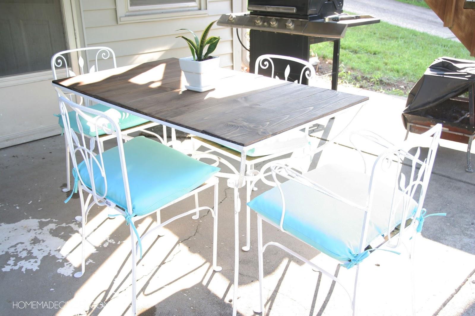 Nice Vintage Patio Table Makeover. Amazing Transformation!