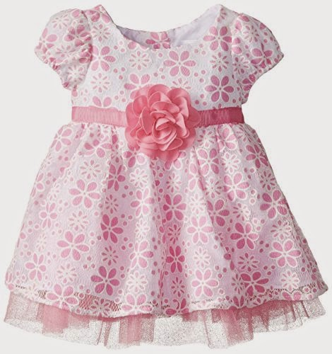 Youngland Baby-Girls Newborn Floral Burnout Dress