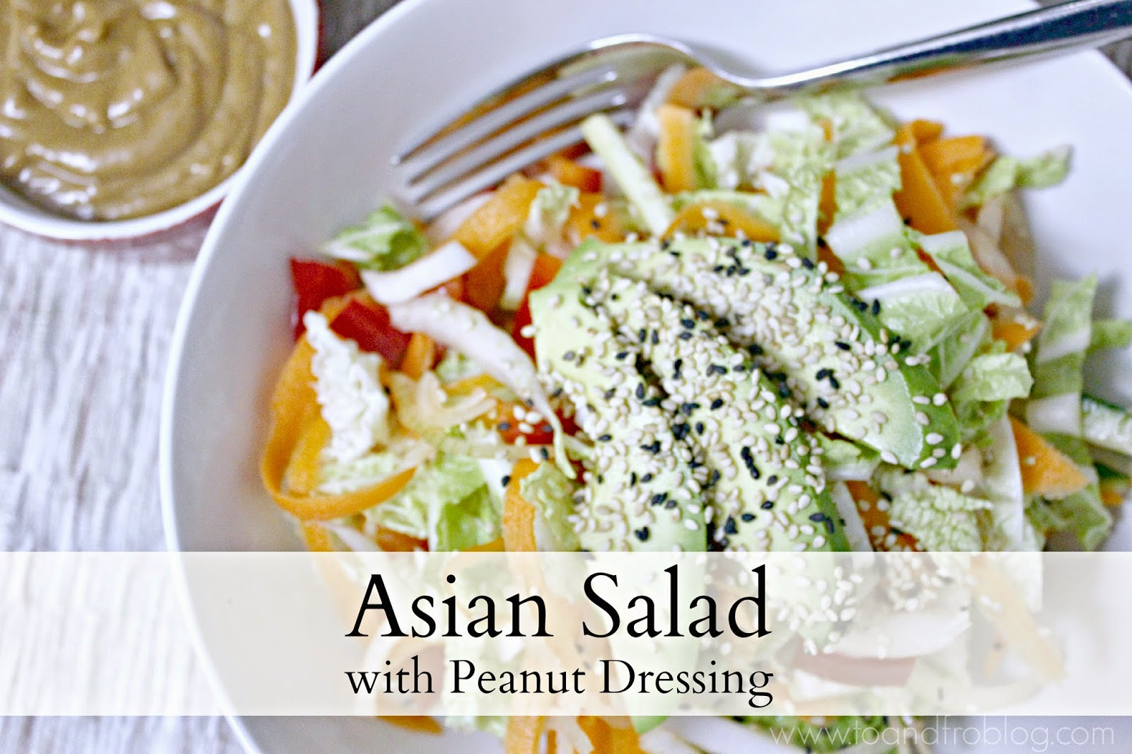 asian salad with peanut dressing recipe