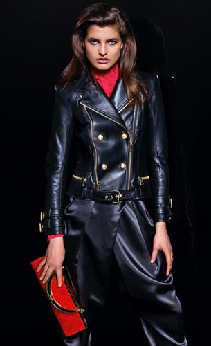 Balmain para H&M cazadora cuero y pantalón