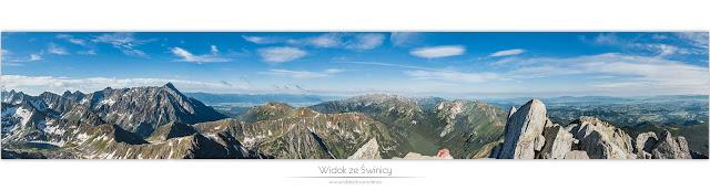 Panorama ze Świnicy - Orla Perć