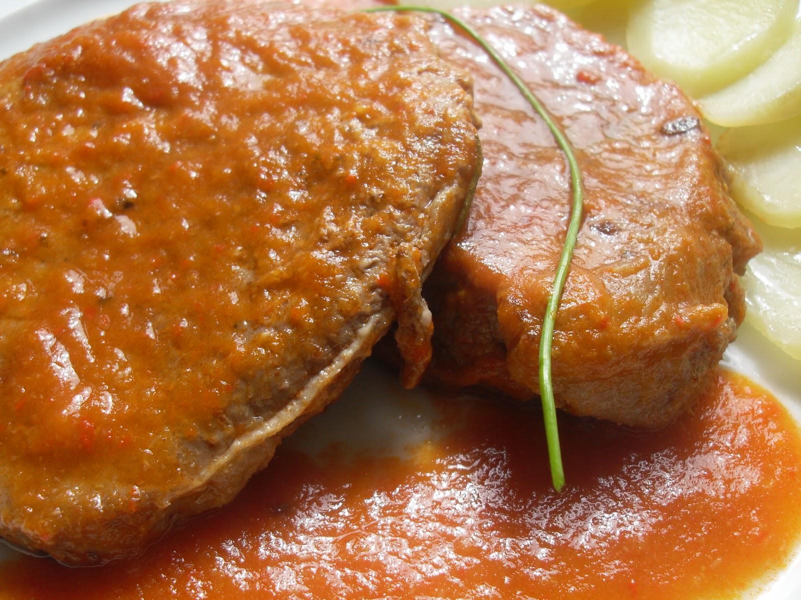 Recetas de la dieta dukan filetes de ternera en salsa - Filetes de ternera en salsa de cebolla ...