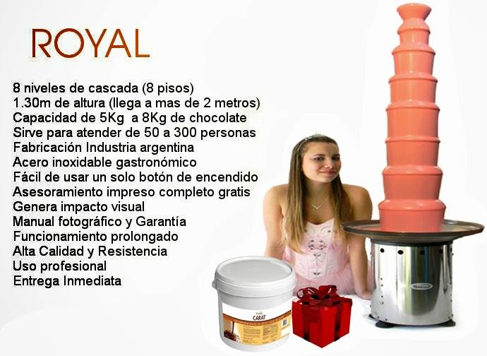 Cascada de chocolate Royal 8 pisos   Sirve para atender de 50 a 300 personas
