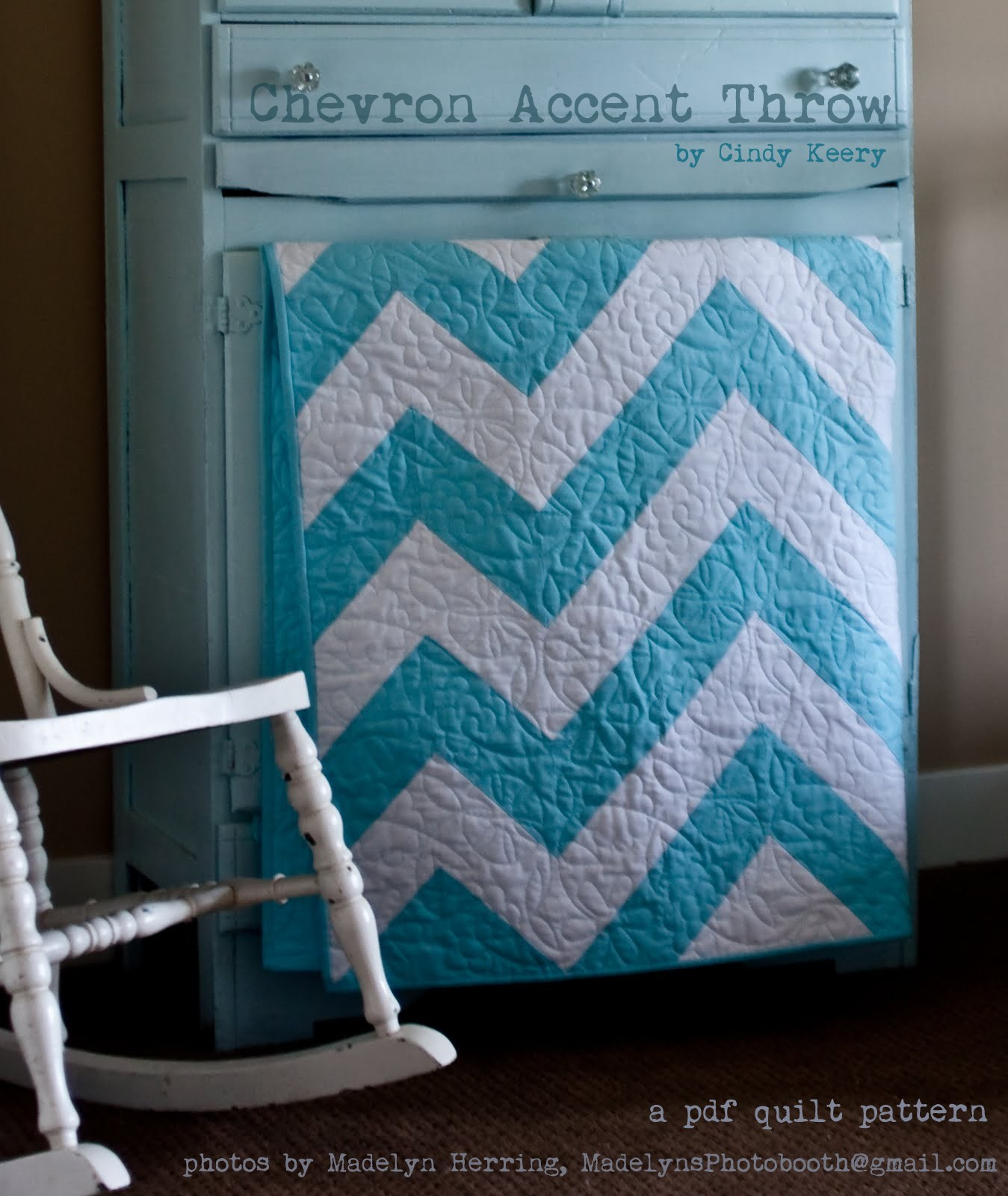 $5 Sale!! Chevron Accent Quilt