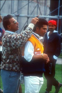 Gavaskar-sachin-Hair-Training