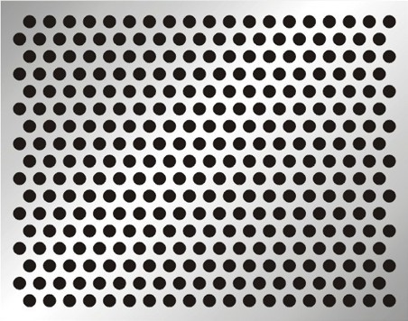 Perforated stainless steel sheet
