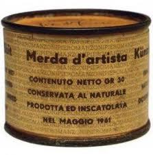 Obra de Manzoni imagen utilizada en el ensayo de arte Marilyn, Andy Warhol y Walter Benjamin realizado por Juan Sánchez Sotelo para la Academia de dibujo y pintura Artistas6 de Madrid.