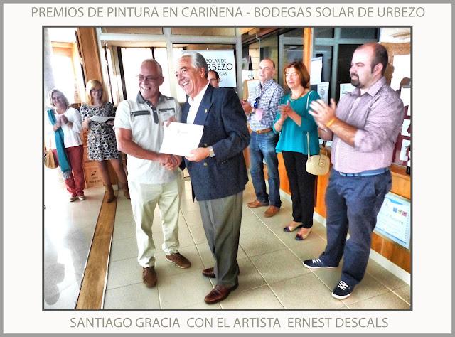CARIÑENA-PINTURA-ARAGON-PREMIOS-CONCURSO-BODEGAS-SOLAR DE URBEZO-SANTIAGO GRACIA-FOTOS-ARTISTA-PINTOR-ERNEST DESCALS-