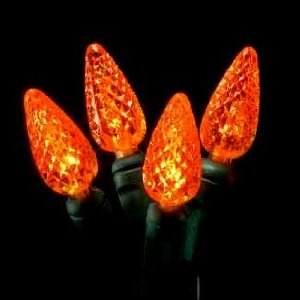 Halloween String Lights Outdoor : halloween decorations: String of 70 Forever Bright C6 LED Energy Saving Orange Indoor/Outdoor ...
