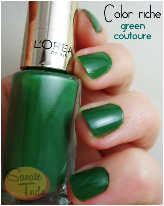 Sacate todo: Un verde loro, pero ¡finoli! - L\'oréal Color Riche ...