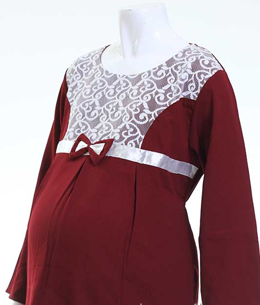 Model Baju Muslim Brokat Untuk Ibu Hamil