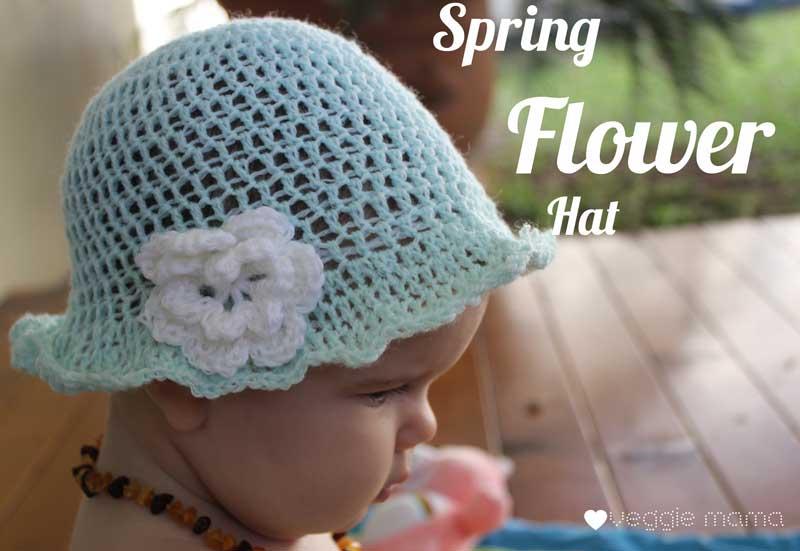 Spring Flower Hat - a free crochet pattern - veggiemama
