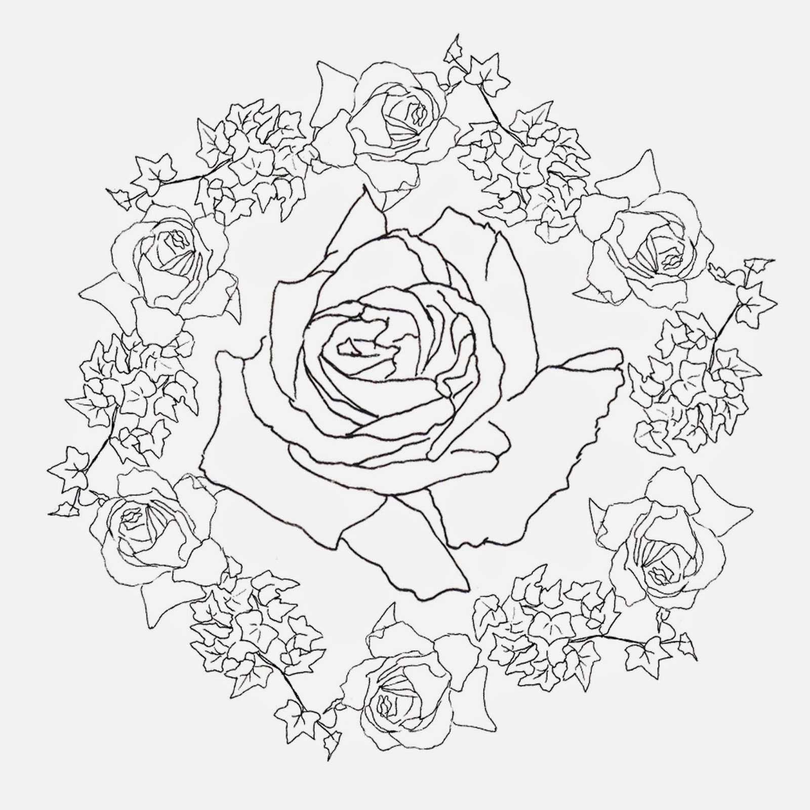 Dibujos Para Colorear Dificiles De Flores ~ Ideas Creativas Sobre ...