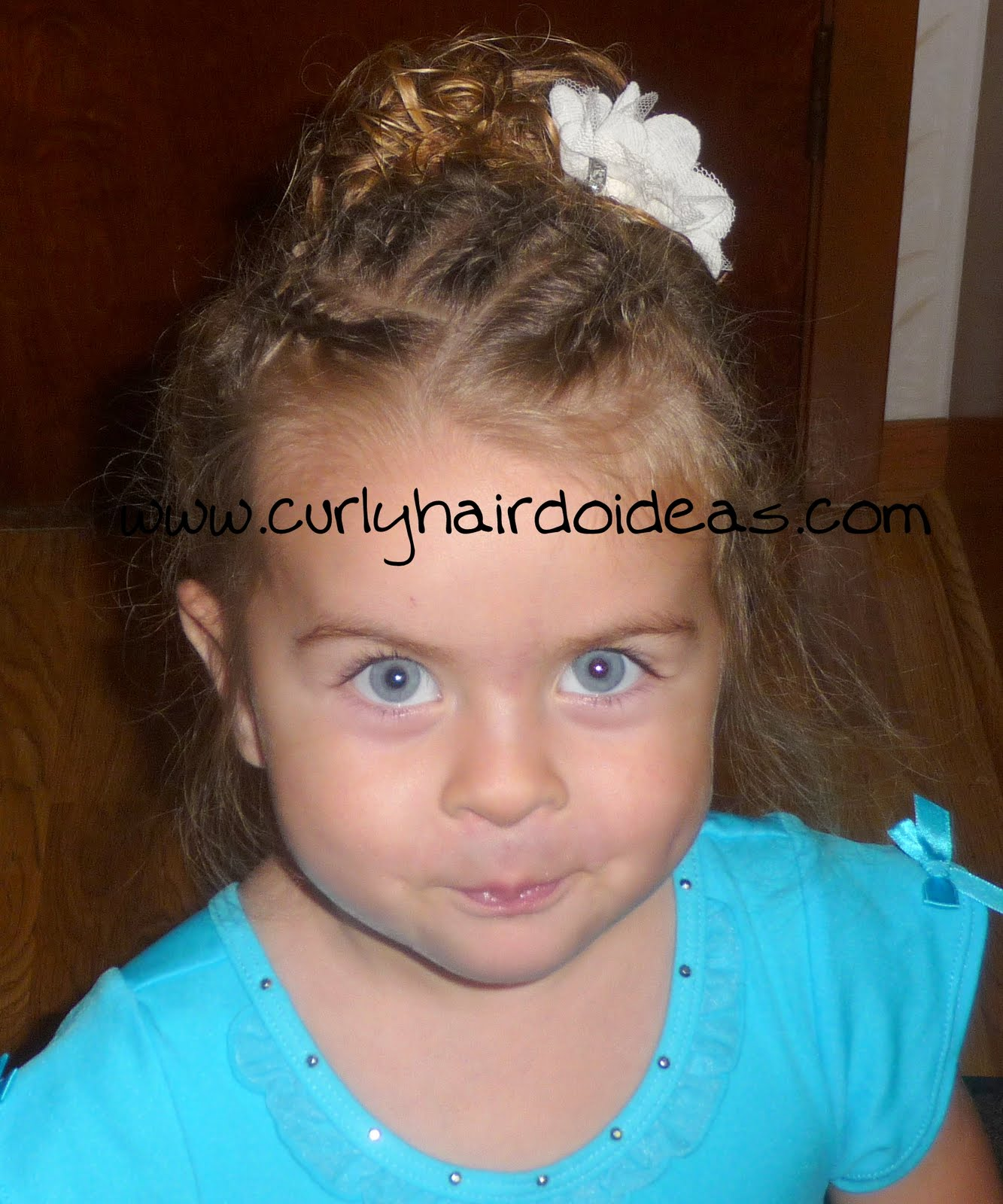 and toddler hair styles can be a real challenge so i took it easy title=