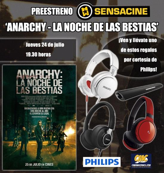 CONCURSO ANARCHY: LA NOCHE DE LAS BESTIAS