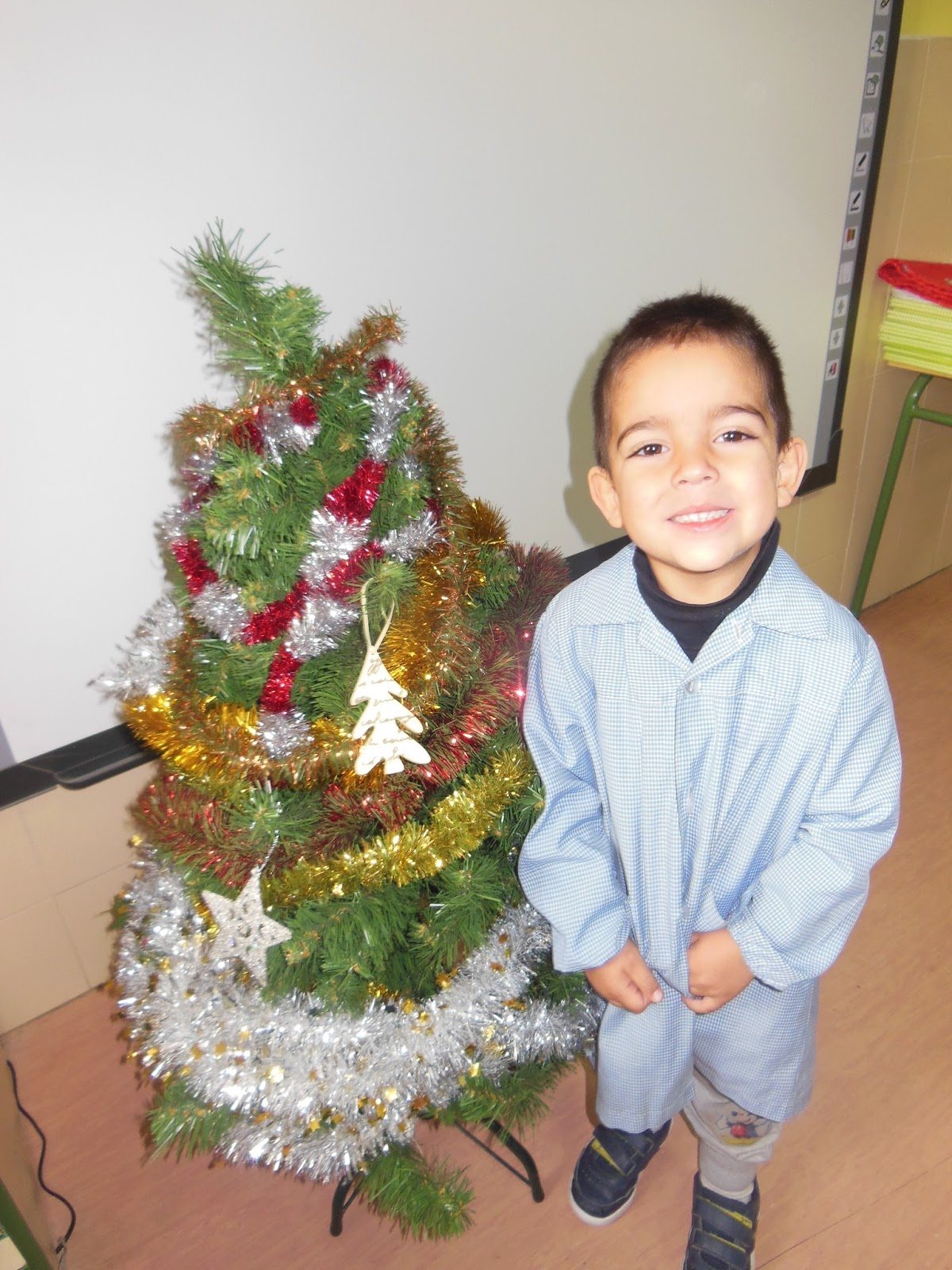Decoramos Aula Arbol Navidad Pinterest