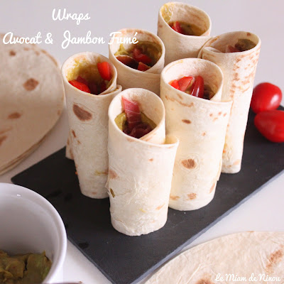 Illustration Wraps Avocat & Jambon Fumé