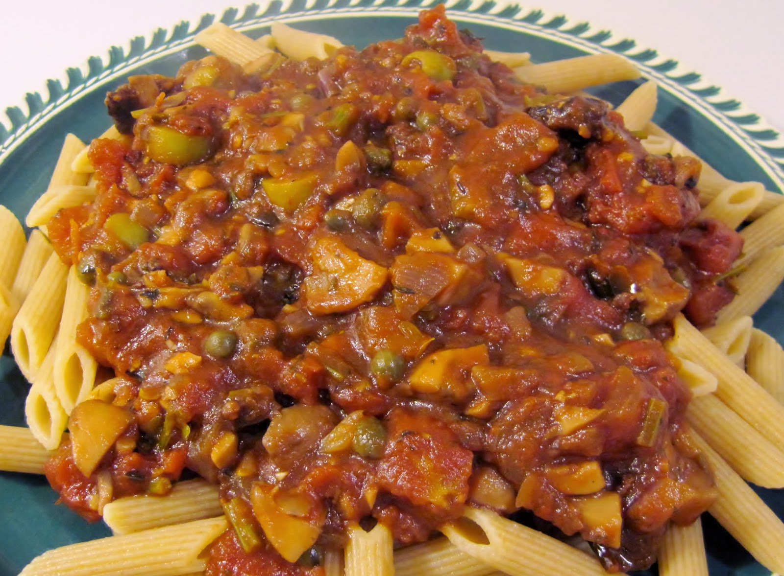 Roasted Vegetarian Puttanesca Sauce Recipe — Dishmaps