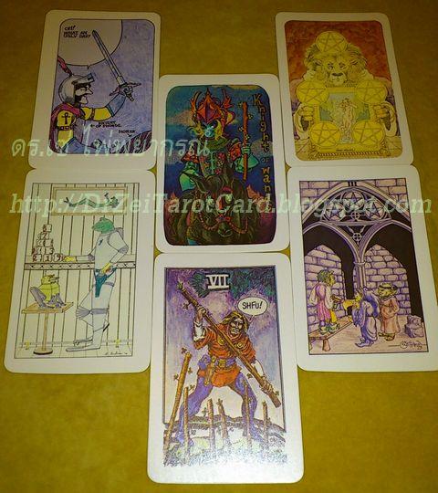 แฟนตาซีโชว์เคส ไพ่ทาโร่ ไพ่ยิปซี รวมนักทำนาย พยากรณ์ ศิลปิน 86 78 ใบ Fantasy Showcase สัมภาษณ์ไพ่ใหม่ Tarot เจ็ดไม้เท้า Seven of Wands สามเหรียญ Three of Pentacles เก้าถ้วย Nine of Cups อัศวินไม้เท้า อัศวินถือถ้วย Knight of Wands Cups