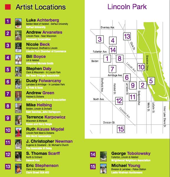 Bike Walk Lincoln Park A treasure trove of sculptures in Lincoln Park