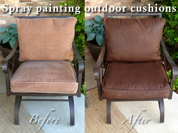 Marvelous Spray Painting Outdoor Cushions