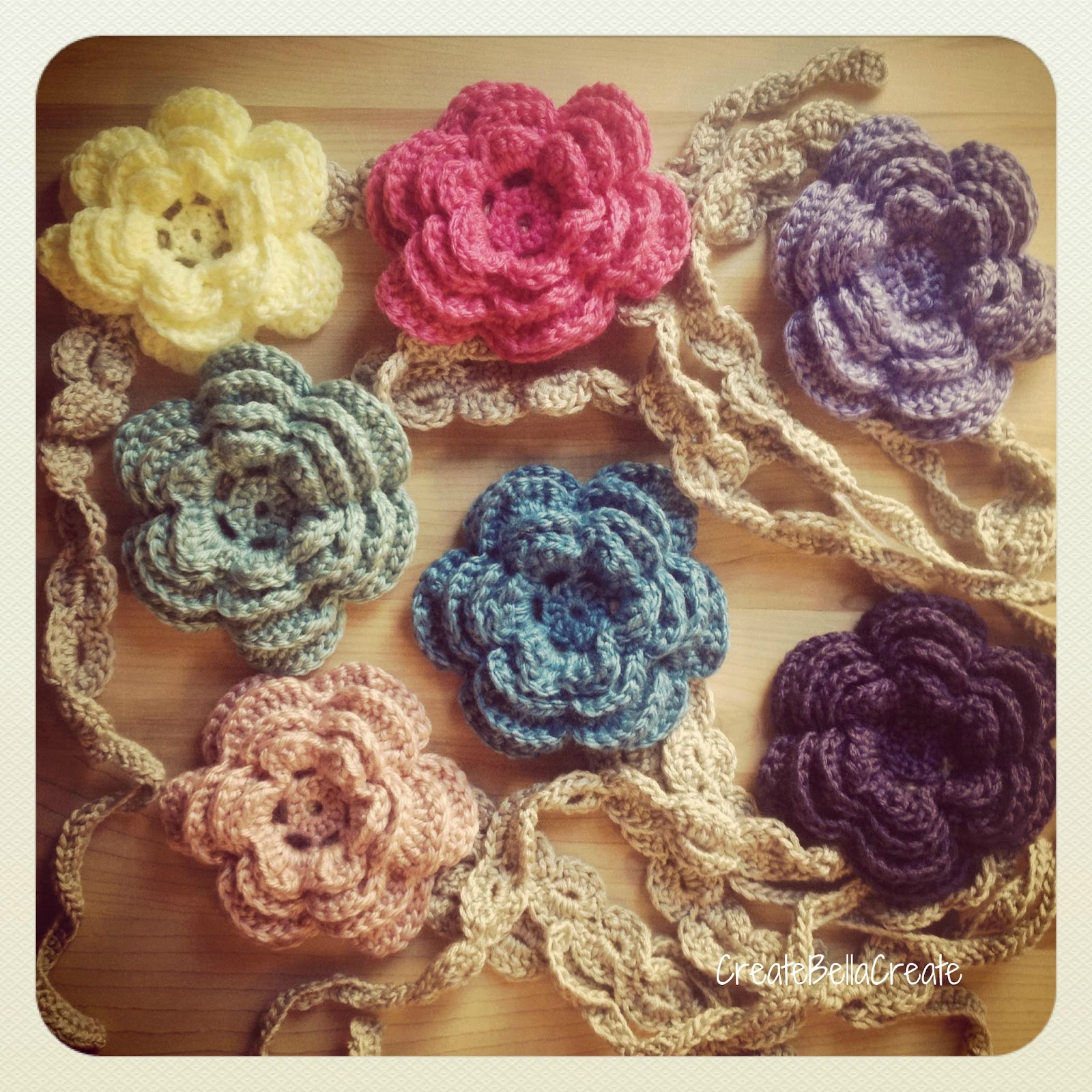 Flower Headband Tutorial: Createbellacreate: Free Shell Crochet Headband Pattern