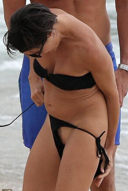 french tv host alessandra sublet bikini pubic hair slip