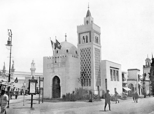 Exposition universelle de 1910 à Bruxelles - Pavillon de la Tunisie.
