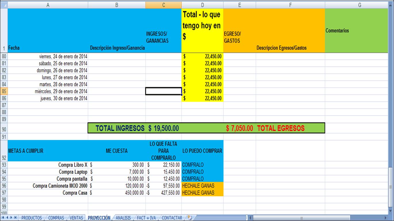 Negocios en excel: Control de Ventas en Excel - Plantilla muy util ...