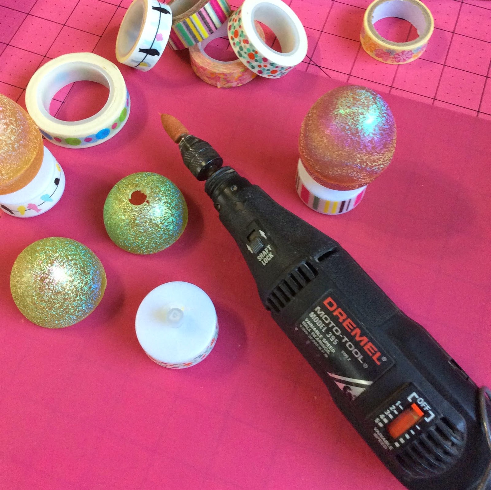 how to drill hole in plastic egg with Dremel stefanie girard