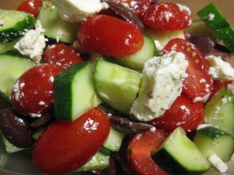 Mediterranean Cucumber, Tomato and Feta Salad | The Heart Smart ...