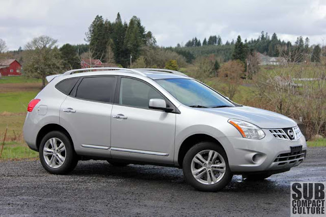 review 2012 nissan rogue sv an ironically named compact. Black Bedroom Furniture Sets. Home Design Ideas
