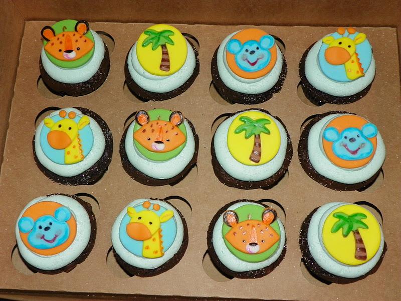 Plumeria Cake Studio Fisher Price Jungle Animal Baby Shower Cupcakes