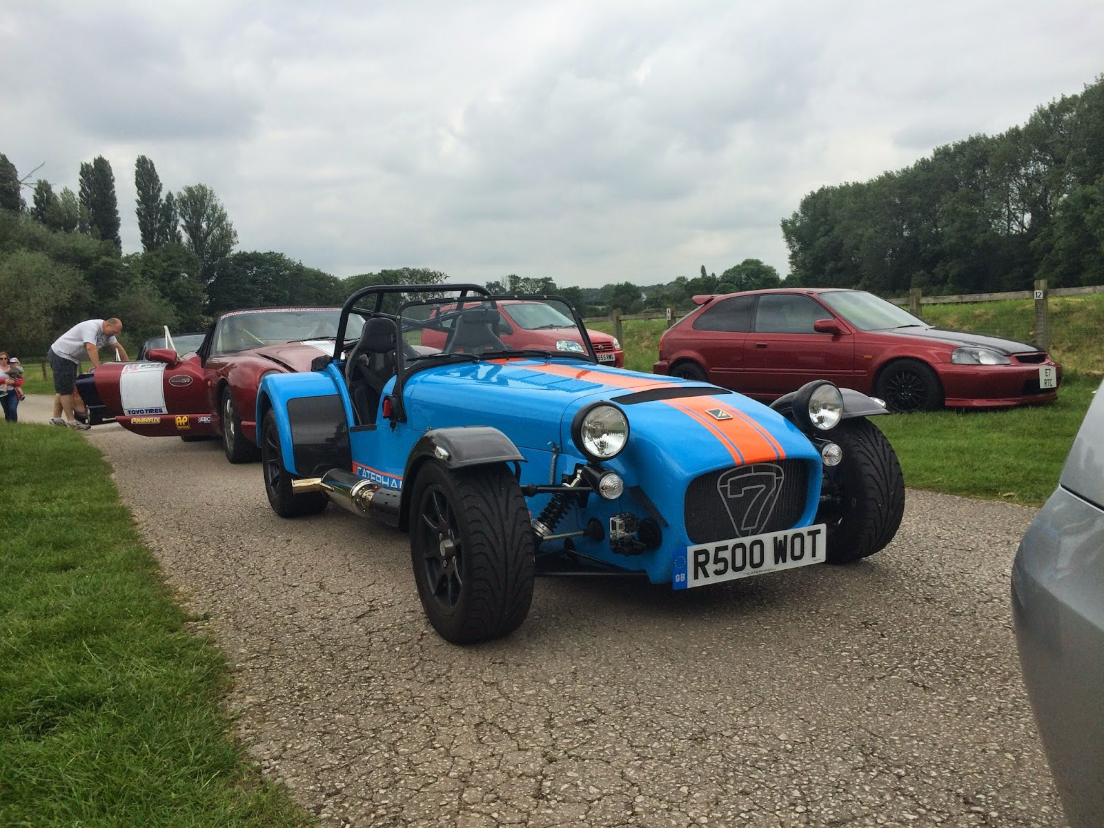 My Caterham R500 at Curborough Sprint Course