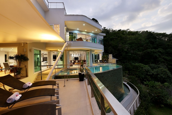 Terrace of Modern Villa Beyond in Phuket, Thailand
