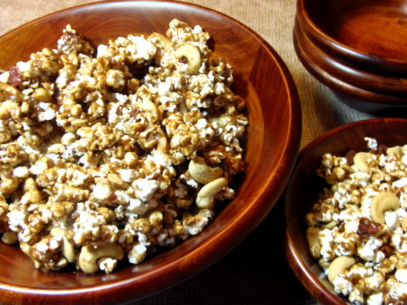 Cashew Bacon Caramel Corn Recipe