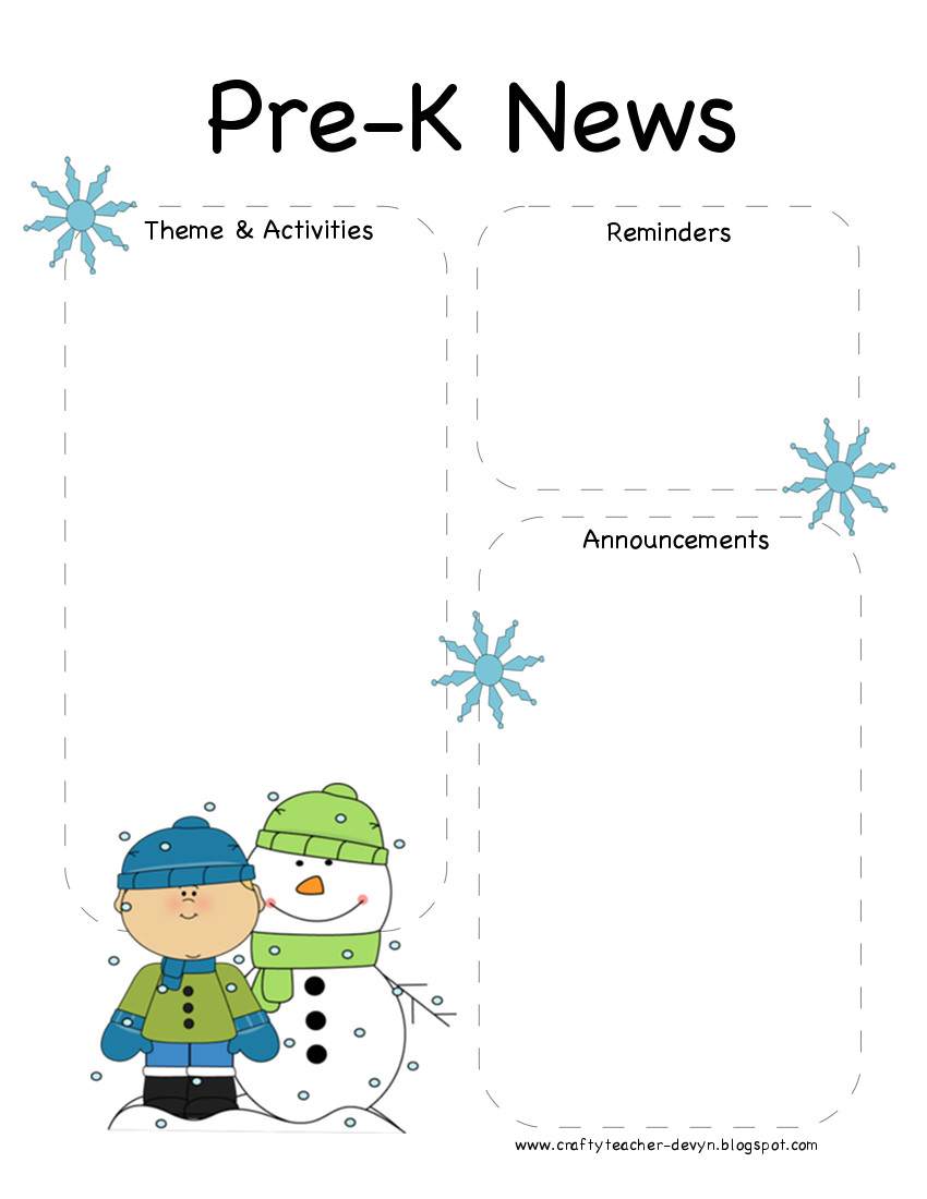 november newsletter template