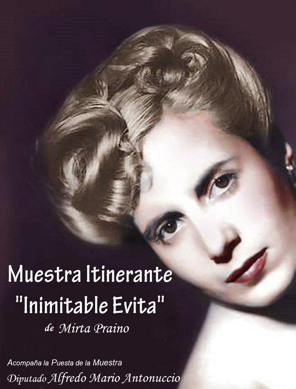 """volvimos a Exponer la MUESTRA ITINERANTE """"INIMITABLE EVITA"""""""