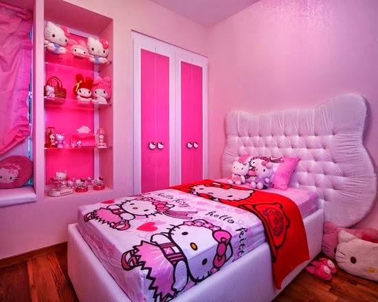 model dan desain kamar hello kitty beautiful keren