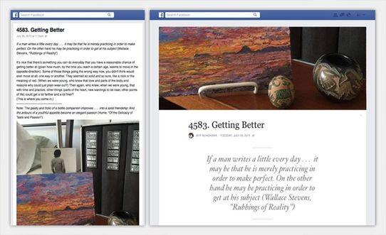 هذه الميزة أتت تحت مُسمى فيسبوك الملاحظات Facebook Notes فهي وسيلة أفضل لكتابة مُحتوى طويل و مشاركته مع أي شخص سواء كان ذلك مع مجموعة صغيرة من اصدقائك او الجميع بشكل عام