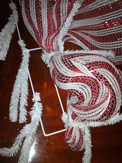 My Crafty World Candy Cane Deco Mesh Wreath